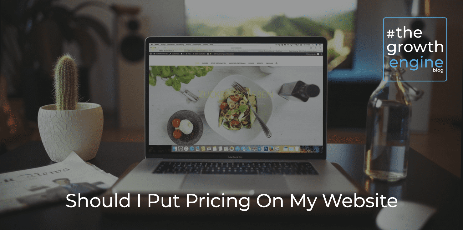 GE - Should I Put Pricing On My Website - Blog Header